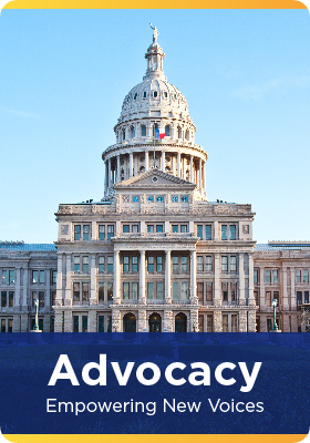 Advocacy means speaking up. TCEA advocates for teachers and students.