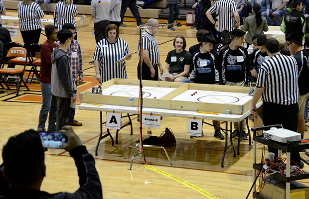 students compete in robotics contests