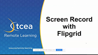 Screen Record with Flipgrid